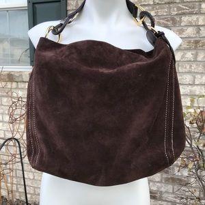 Michael Kors Brown Suede Leather Shoulder Bag
